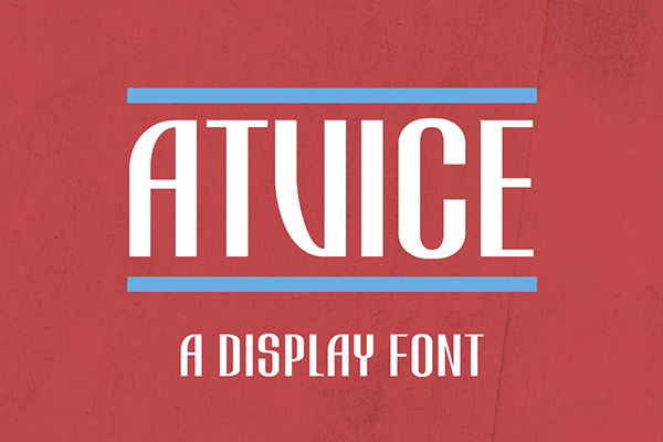 Atvice-free font