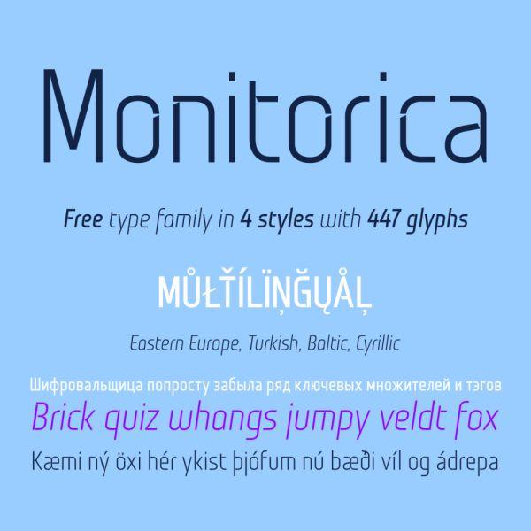 Monitorica-free font