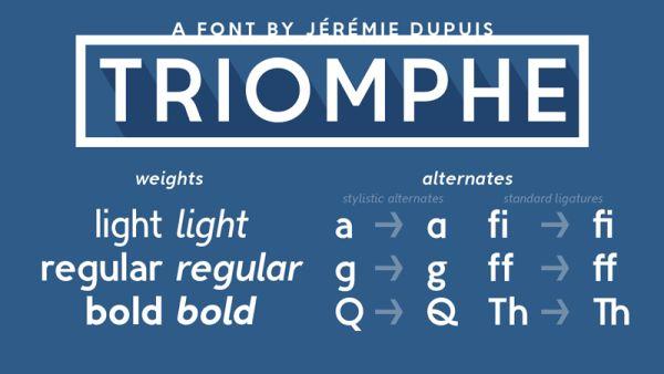 Triomphe-free font
