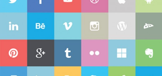 24-Free-Flat-Social-Icons
