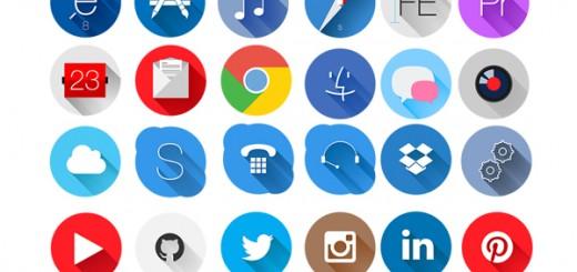 45 free rounded flat icons