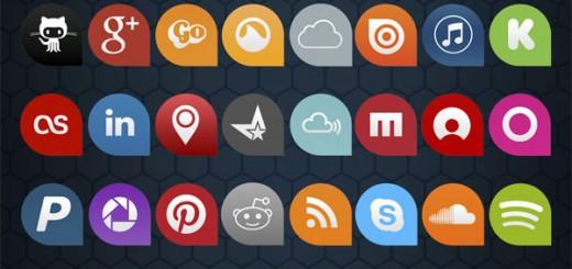 55-free-flat-social-icons