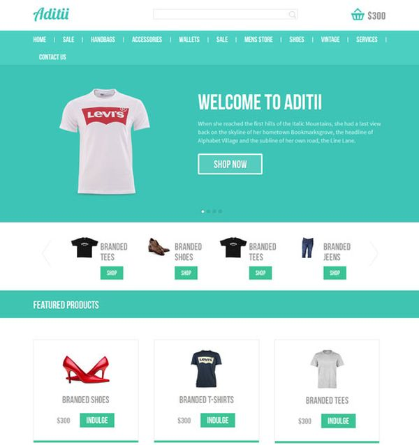 shopping site template free