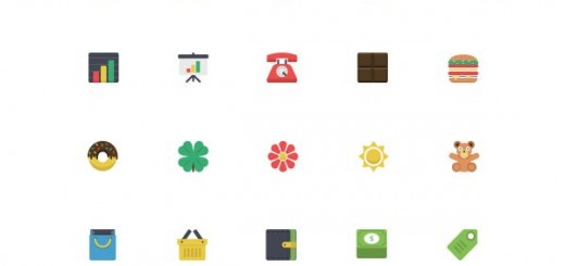 80 free flat icons for web and print