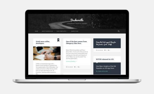Baskerville-Free WordPress Theme by Anders Norén