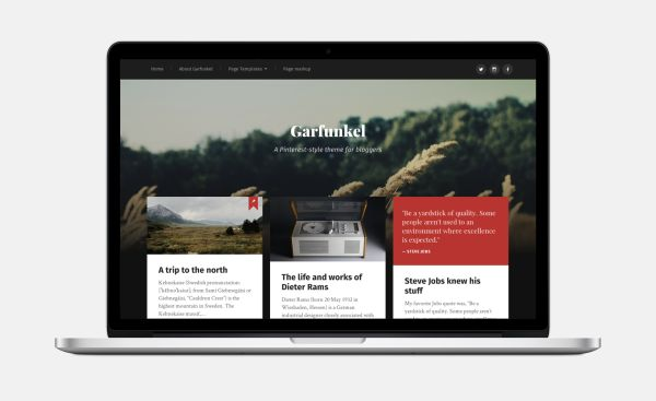 Garfunkel-Free WordPress Theme by Anders Norén