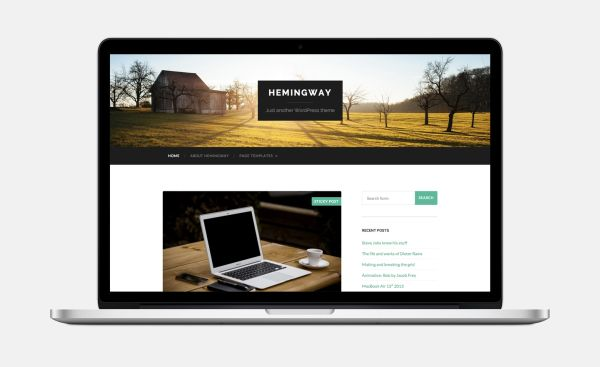 Hemingway-Free WordPress Theme by Anders Norén