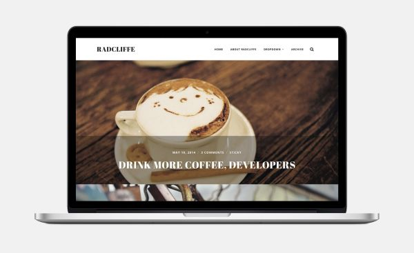 Radcliffe-Free WordPress Theme by Anders Norén