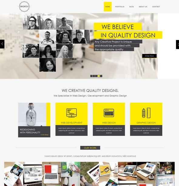 Skokov free flat responsive template htmlcss web design freebies skokov free html5 template wajeb Image collections