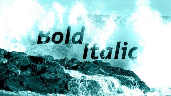 Smidswater bold italic