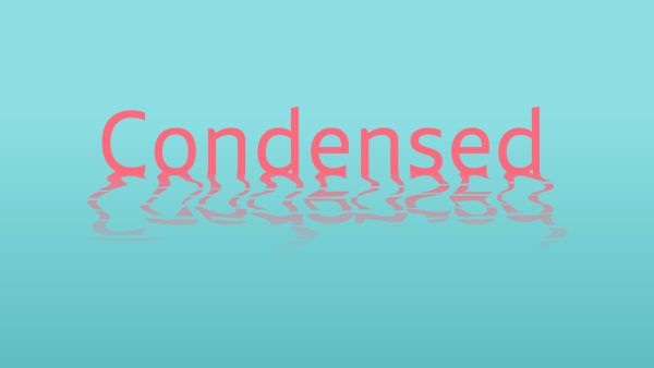 Smidswater condensed