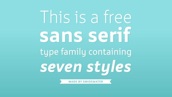 Smidswater free typeface