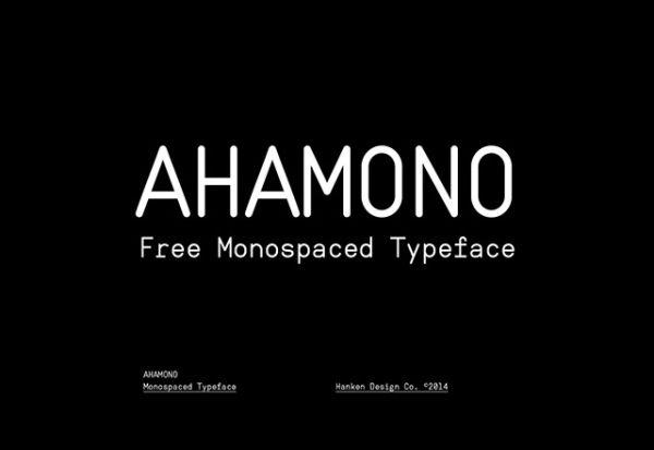 Ahamono-free font