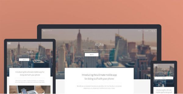 Alpha-free responsive template