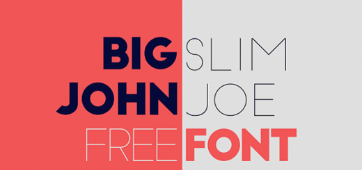 Big John-Slim Joe-free font