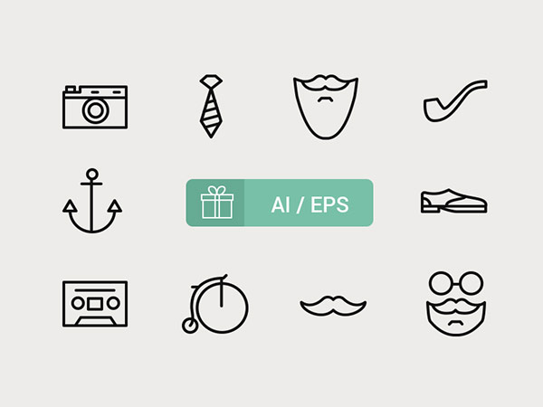 free-hipster-icons