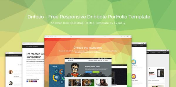 Drifolio-Free Responsive Dribbble Portfolio Template