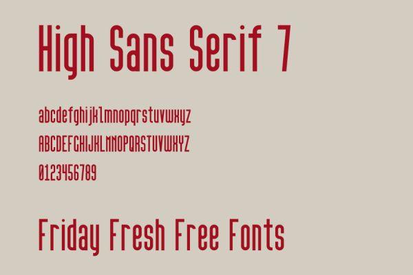 High San Serif 7 free font