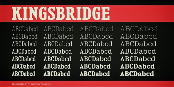 Kingsbridge-free font family