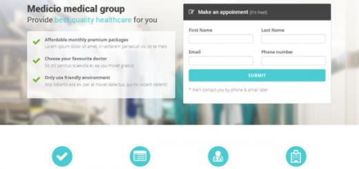 Medicio-free Bootstrap template