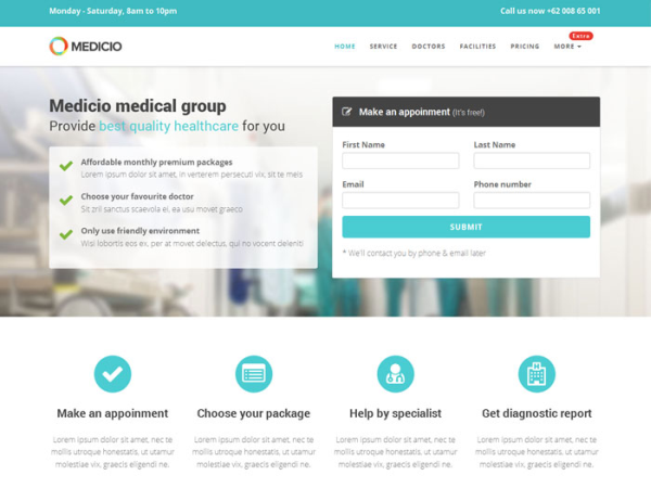 Medicio - Free Medical & Health Bootstrap Template