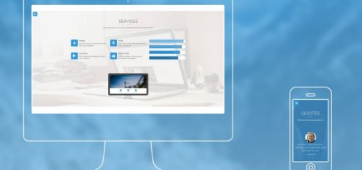Phantasos-free one page Bootstrap template