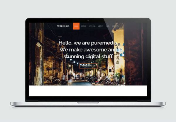 Puremedia-free HTML5 and CSS3 template