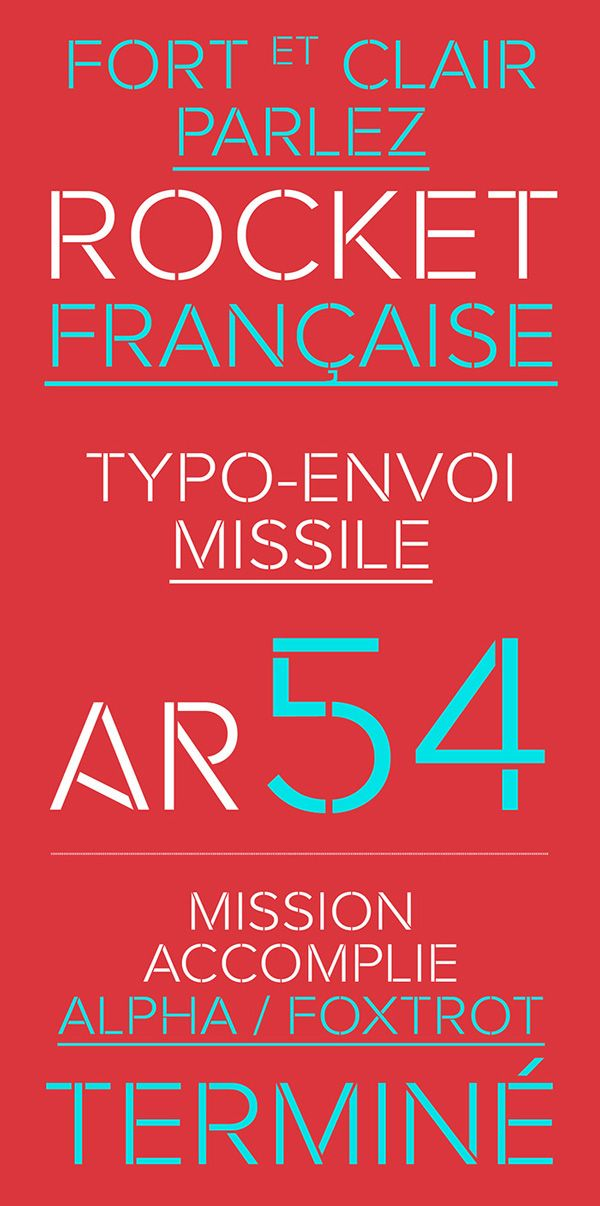 Rafale-free font