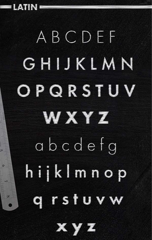 SCHIST-free font