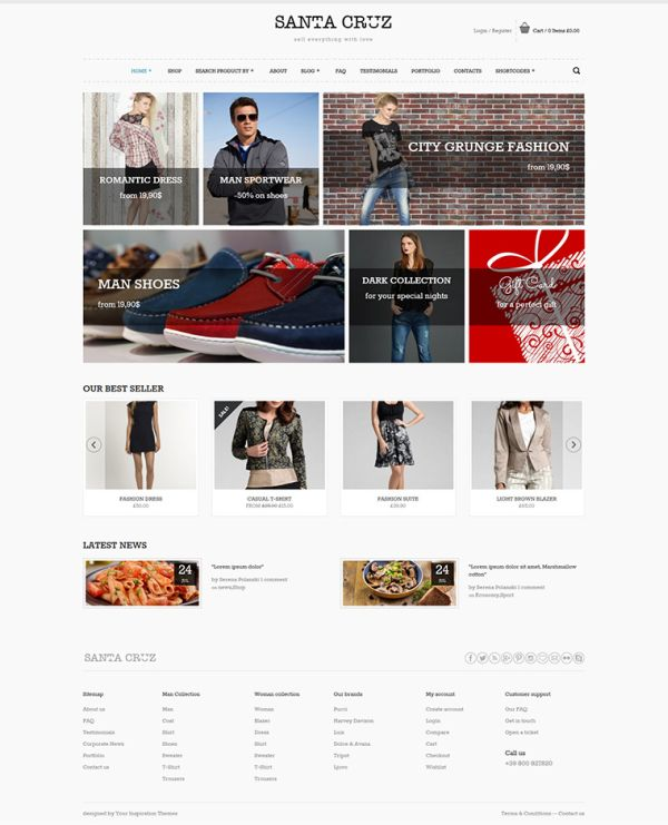 Santa Cruz-Free WooCommerce WordPress Theme