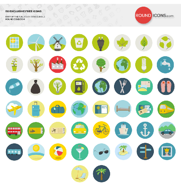 TRAVEL-AND-ECOLOGY-ICON-SET