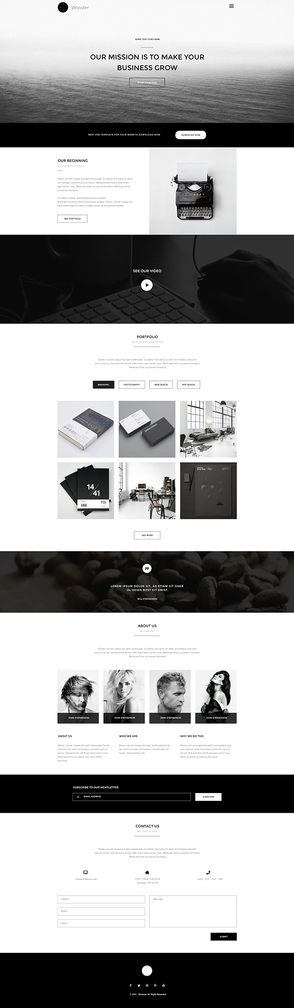 5 free website templates in Photoshop (PSD) format | Tools | Web ...