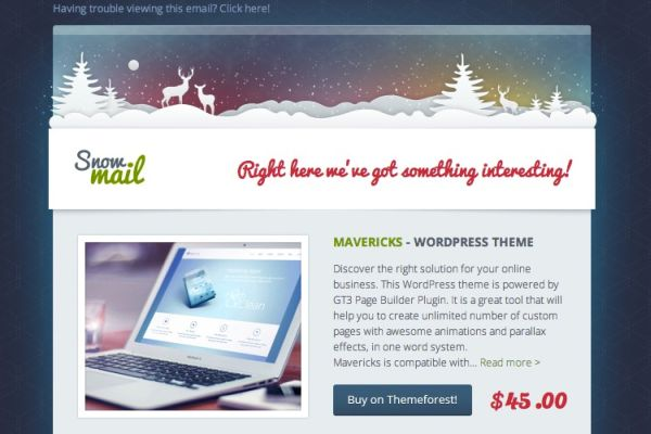 3 Free Christmas Email Templates