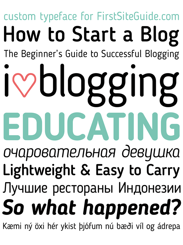 Blogger Sans-free font