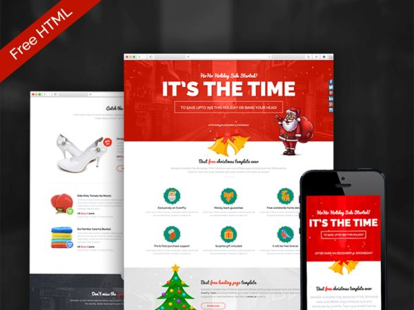 SantaGo – Free Christmas Landing Page