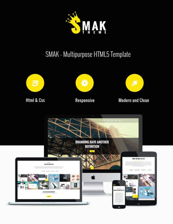 Smak - Free HTML single page template