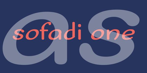 Sofadi One-free font