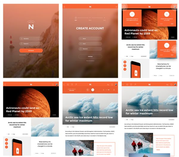 Now-free UI kit by InVision