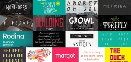 17 Free Fonts in One Bundle