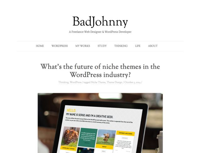 BadJohnny-free minimal WordPress theme
