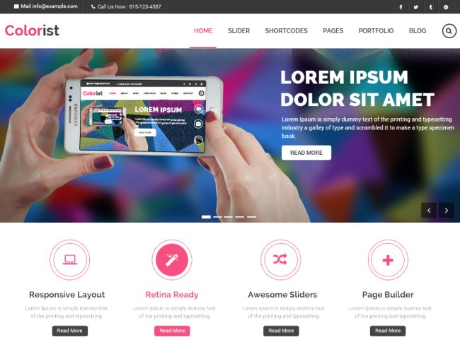 Colorist-Free WordPress theme