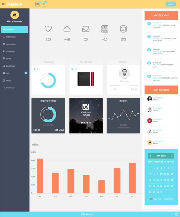 DashGum – Free Admin Template