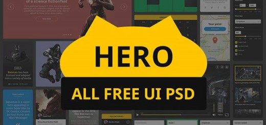 Hero – Free PSD UI kit