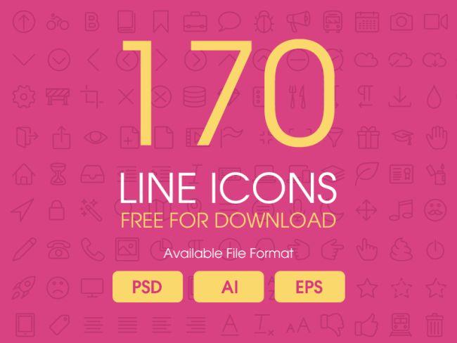 170 Free Line Icons