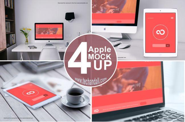 4 Free Apple Mockups
