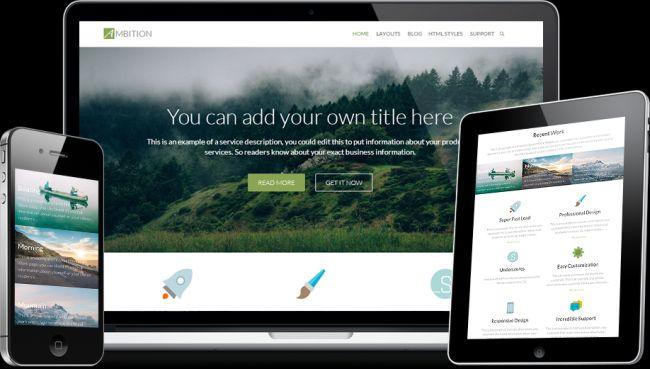 Ambition-Free Flat Responsive Business WordPress Theme