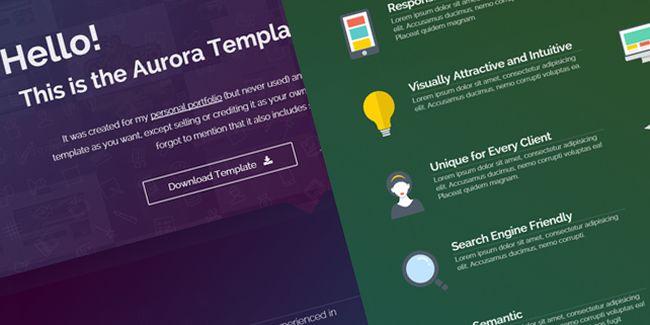 Aurora – Free Portfolio HTML5 Template