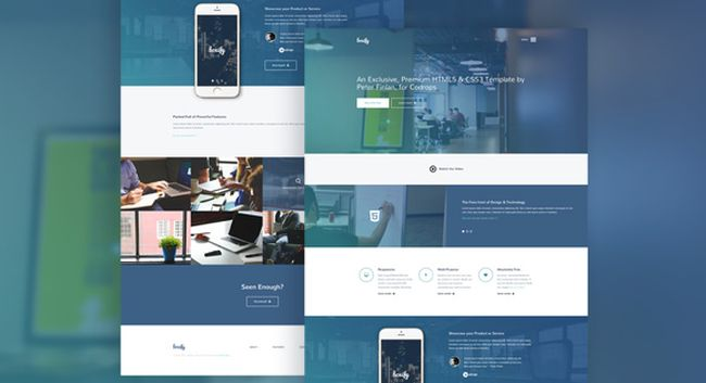 Boxify-free one page HTML5 CSS3 template