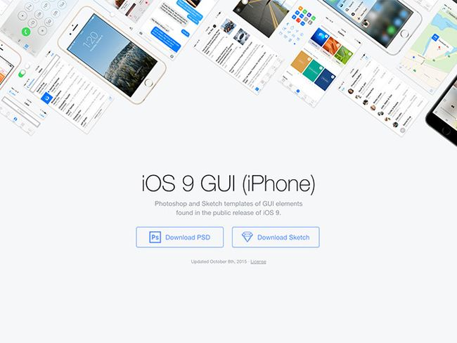 Free iOS 9 GUI by Facebook
