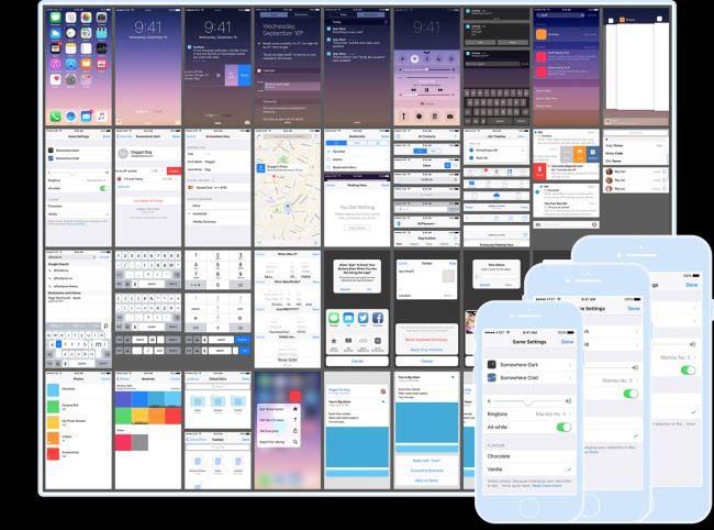 Free iOS 9 UI Kit